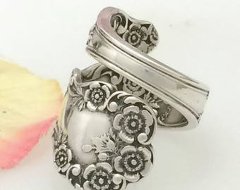 Sterling Silver Spoon Ring, Size 7 - 12, BUTTERCUP, Gorham 1899 Antique Design Vintage Repurposed Silverware Jewelry, Gift