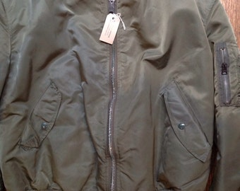 """Vintage civilian issue Alpha Industries MA-1 flight jacket 60"""" chest xxl military USAF US Air Force"""