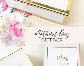Mothers Day Gift Basket Mom Gift Mothers Day from Daughter Mothers Day from Son Gift for Mothers Day Gift Ideas Box (EB3171BPW) EMPTY BOX