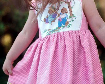 Teddy Bears or Rabbits Easter Dress