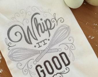 Whip It Good Kitchen Towel, Baker's Gift