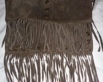 NWT! Vintage Wilson's Leather Fringe Crossbody Purse Shoulder Bag - Suede Leather - Unused - Hobo - Hippie - Gypsy - Swing Purse