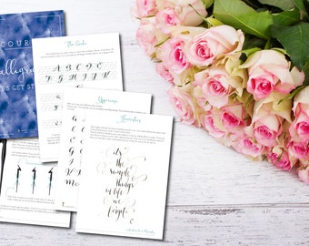 PRINTABLE Modern Calligraphy Guide + Workbook