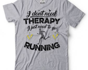 Running T-Shirt Funny GYM Workout Runner Tee Shirt