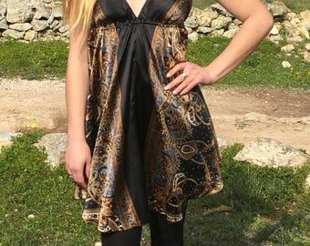 Womens Tunic,Ethnic Tribal Boho Hippie Tunic,Elven Clothing,Backless Top,Tunic Tops, Tunic Dress,Large Tunic,Womens Dresses,Vintage Dress