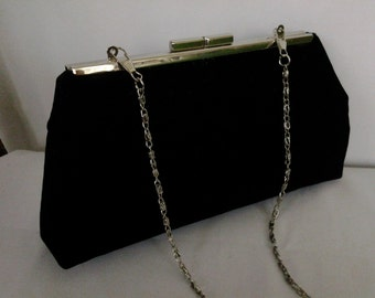black velvet clutch evening wedding holiday Christmas Prom  New Years Eve clutch BBsCustomClutches
