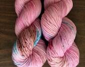 "Sweet Pea Merino 80/20 4 ply Hand-Dyed Speckled Sock Yarn -400yds ""Kitten's Choice"""