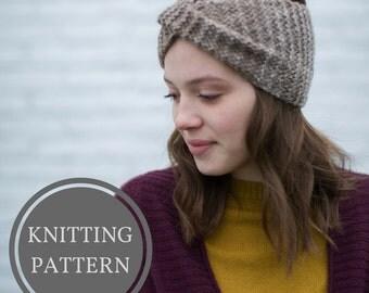 Rainier Headband Knitting Pattern | Earwarmer Knitting Pattern | Knit Headband Pattern | Winter Knitting Pattern | Step by step knit pattern