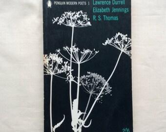 Vintage  Penguin Modern Poets 1, 1962, L Durrell, E Jennings, RS Thomas, paperback.,
