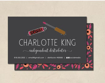 printable - lip business cards - mommy calling cards - hand illustrated lip bottles - personalized - small business - DIY