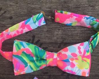 Lilly Pulitzer Fan Sea Pants Bow Tie