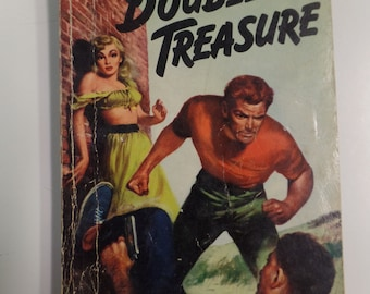 Double Treasure by Clarence Budington Kelland Dell Mapback #335 1946 Vintage Adventure Paperback