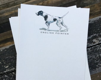 English Pointer Dog Note Card Set