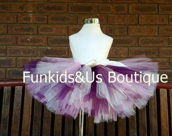 Wine, Ivory Dusty Rose blush Tutu- Vintage  Tutu Skirt , Birtday,photoprop, 0,6,,9,12,18,2T-5T
