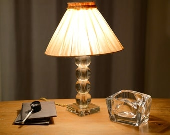 Lamp to ask, bedside, Art Deco, in glass, in the taste of Jacques Adnet