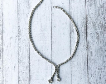 Art Deco Necklace/ Rhinestone Necklace/ Crystal Necklace/ Silver Necklace/ Bridal Necklace/ Wedding Necklace/ Vintage Necklace/ Choker