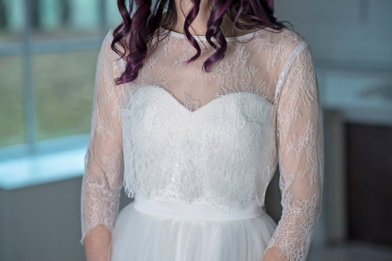 Heather - lace cover up