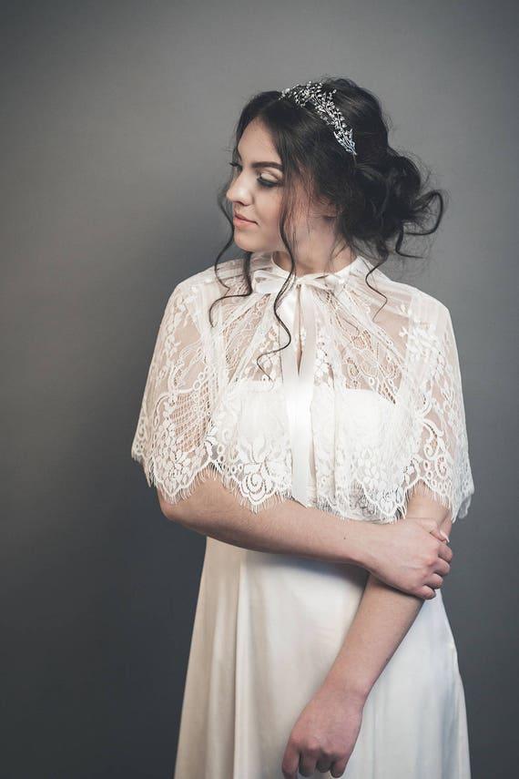 Linnea - bridal capelet