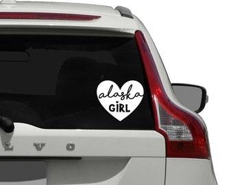Alaska Car Decal / Alaska Girl Car Decal / Alaska Girl Car Window Decal Sticker / Alaska Native Car Decal Sticker