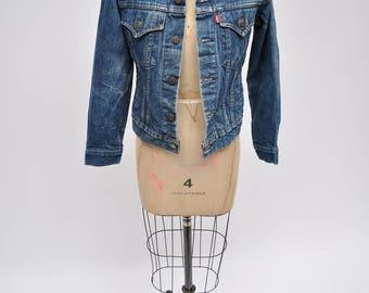 vintage levis jacket denim levi's jacket 4 pocket boyfriend 1980s womens 80s