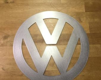 volkswagen vw sign metal wall art