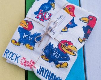 "Jayhawk Tea Towel - 18"" x 22"" - Kansas Love"