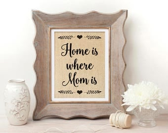Home is Where Mom is, Christmas Gifts for Mom, Home is Where Mum is, Christmas Gift for Mom from Daughter, Christmas Gift for Mother
