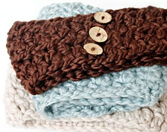 PDF Crochet Pattern ~ Ear Warmer - 2 Sizes