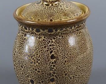 Garlic Keeper in Yellow Oilspot Glaze