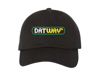 DAT WAY Dad Hat | Migos | Bad & Boujee | Rain Drop | Drop Top | Hip-Hop Hat | Southern Rap | Vintage | Black