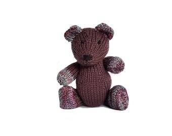 Liam the Hand Knit Bear, Stuffed Toy, cute Bear, Handmade, Stuffed Animal, baby gift, soft bear, bear plushie, bear softie, plush bear