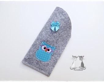 Glasses - glasses case - OWL - turquoise