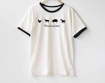 Friends Not Food Shirt TShirt T-Shirt T Shirt Tee