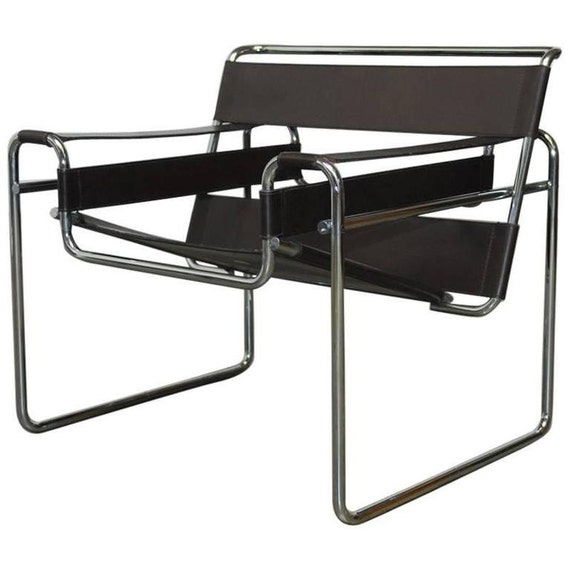 mid century chaise wassily par marcel breuer pour stendig. Black Bedroom Furniture Sets. Home Design Ideas