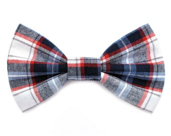 The Lawrence Bow Tie — Dog Bowtie, Made in Brooklyn, Bowtied, Madras Plaid, Summer, Preppy, Bowties, Bows, Collar