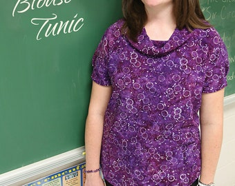 Printed Villager Blouse & Tunic by Snapdragons Studios