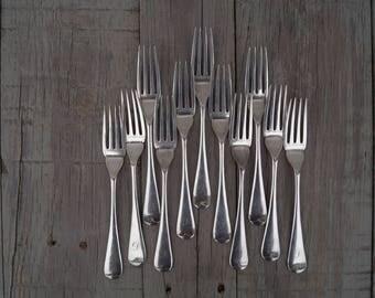 Forks (Set of 11) Walker & Hall - Monogrammed with the Letter D