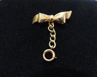 Wonderful 1/20 12K GF Bow Brooch / Charm Pin