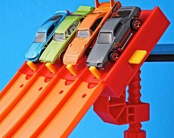 4-Lane Start Gate w/Clamp - For Hot Wheels Toy Car Track Raceway