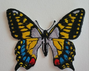 Butterfly iron on or sew on patch Butterfly applique Butterfly embroidery Butterfly patches Butterfly appliques Embroidery patches butterfly