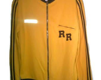 Vintage 70s RetroActivewear Track Suit Yellow+Black VINTAGE 1970s Track suit Wyellow black OldSchool Track Suit M mens OldSchool rare