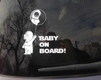 Baby On Board Darth Vader Star Wars Car Decal Sticker Window Truck Vinyl Decor baby on board decal baby on board sticker darth vader decal