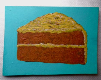 "That's a Piece of Cake #208 (ARTIST TRADING CARDS) 2.5"" x 3.5"" by Mike Kraus"