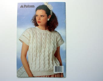 Ladies Summer Sweater Patterns / Patons 600 / the Look of Summer
