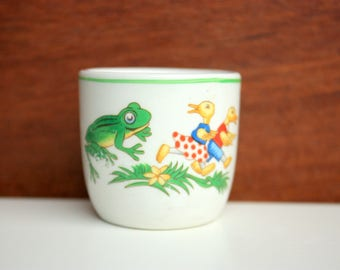 Bucket Egg Cup, Frog Egg Cup, Story Egg Cup, Children's Egg Cup, Made In England Egg Cup, Duck Egg Cup
