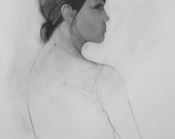 Robyn's Profile in Charcoal
