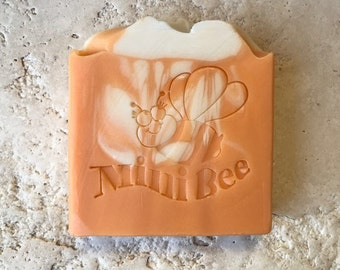 ORANGE CEDARWOOD Cocoa Butter Soap, Handmade Soap, Cold Process Soap, Moisturizing
