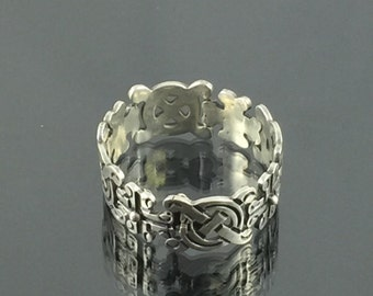 Unique Sterling Silver Bracelet with Intricate Design