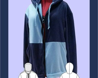 Colour Block Hoodie Sewing Pattern