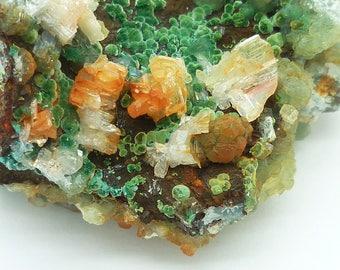 Willemite with Malachite & Cerussite